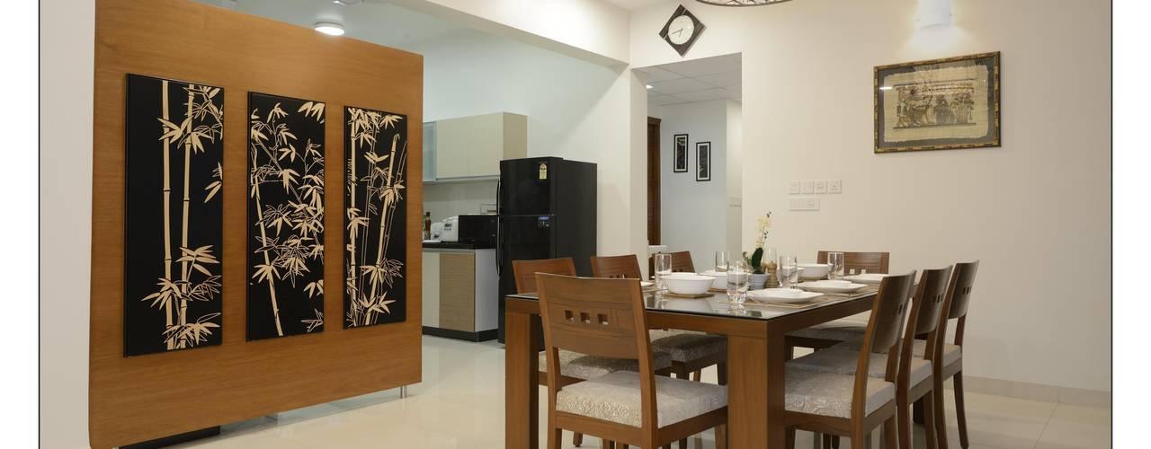 Dining:   by Akruti Interiors Pune