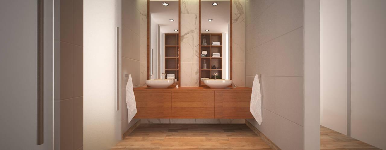 Vivienda RS - Cipolletti, Río Negro: Baños de estilo moderno por ARKIZA