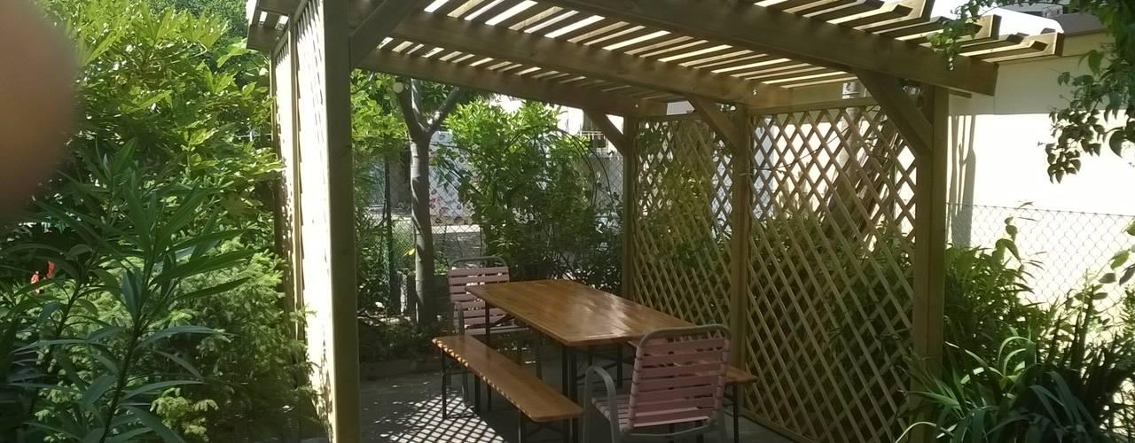 Pergola giardino in legno con tetto trasparente: Giardino in stile  di ONLYWOOD