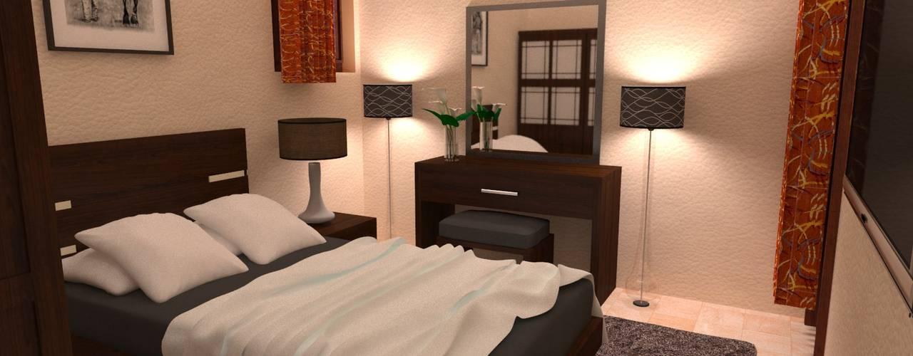 شاليه بالسخنة:  غرفة نوم تنفيذ Taghred elmasry