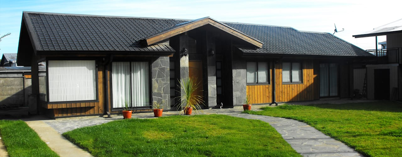 Rumah Gaya Rustic Oleh REW. Arquitectura & Diseño Rustic