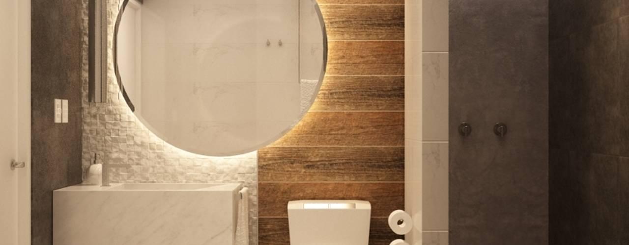 Banheiros modernos por Kuro Design Studio Moderno
