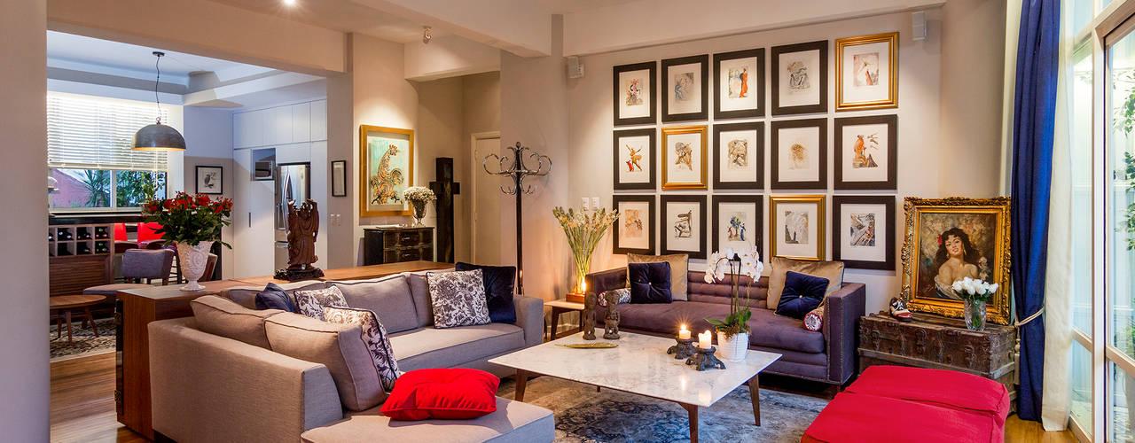 Departamento DV (2016): Salas de estilo  por Weber Arquitectos