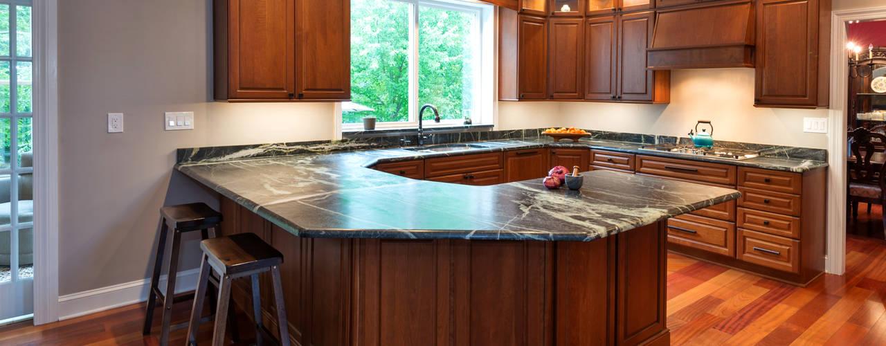 Bishop Medium Cherry Kitchen by Main Line Kitchen Design Classic