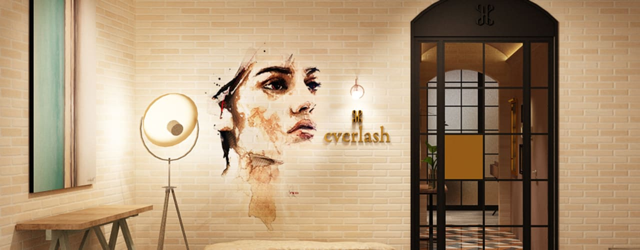 Everlash Klinik Gaya Industrial Oleh Juxta Interior Industrial