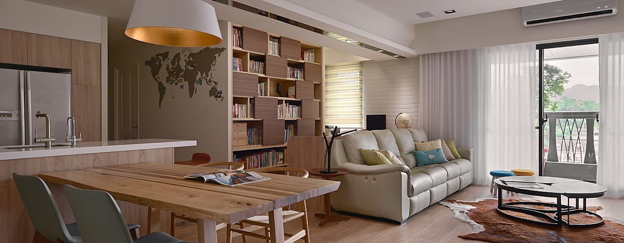 Scandinavian style living room by 耀昀創意設計有限公司/Alfonso Ideas Scandinavian