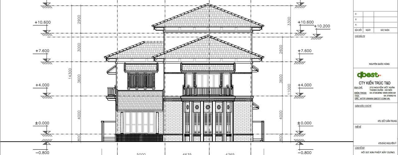 Villa von Công ty TNHH Thiết kế và Ứng dụng QBEST,