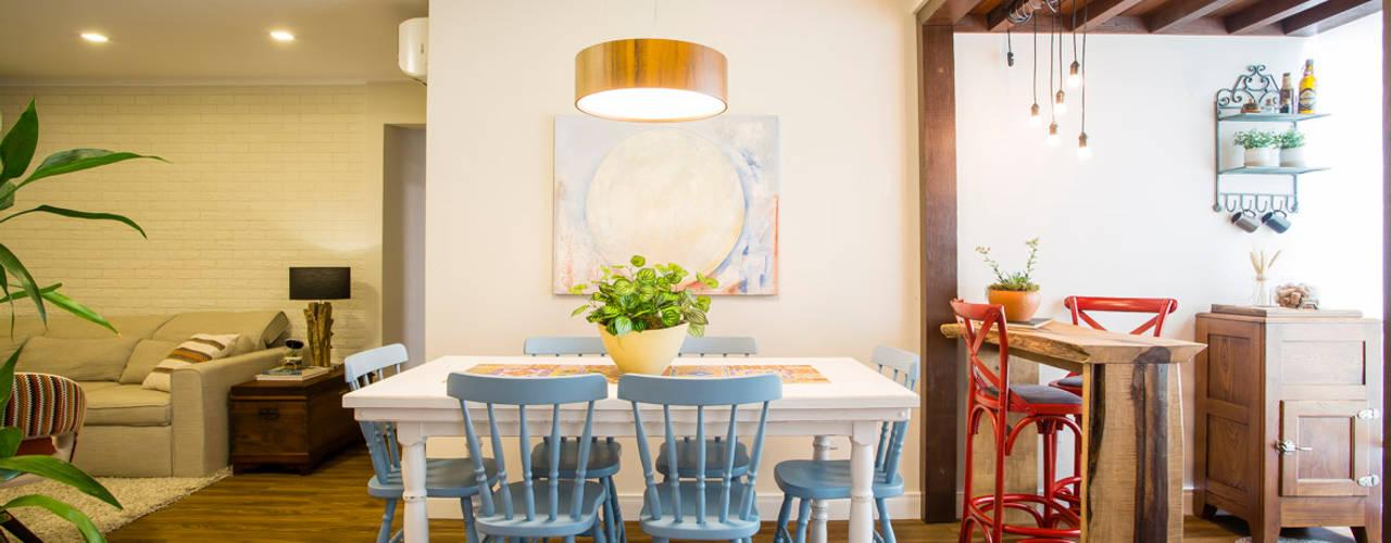 Comedores de estilo rústico de Join Arquitetura e Interiores Rústico