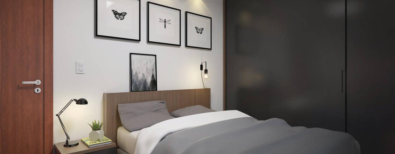 Cuartos de estilo moderno de Filipe Castro Arquitetura | Design Moderno