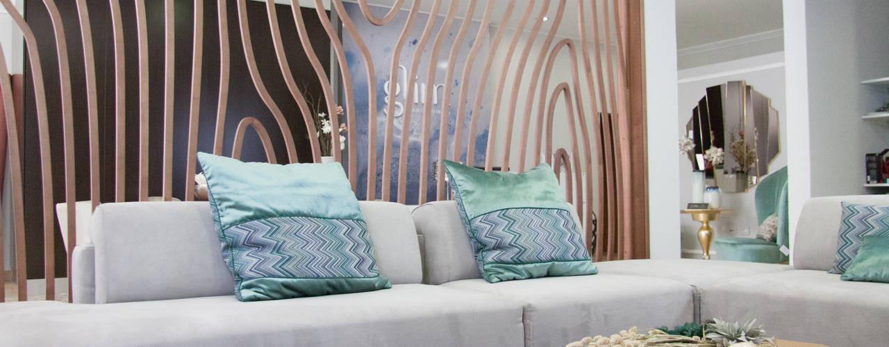 غرفة المعيشة تنفيذ Glim - Design de Interiores