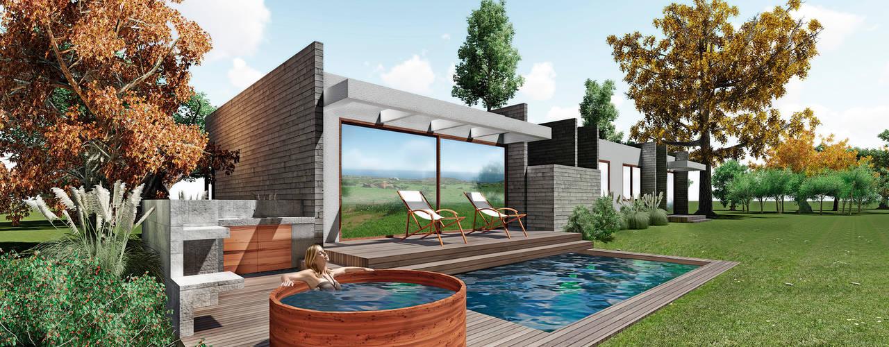 casa Asturias- prediseñada - valor desde 2950 uf. NEF Arq. Casas estilo moderno: ideas, arquitectura e imágenes