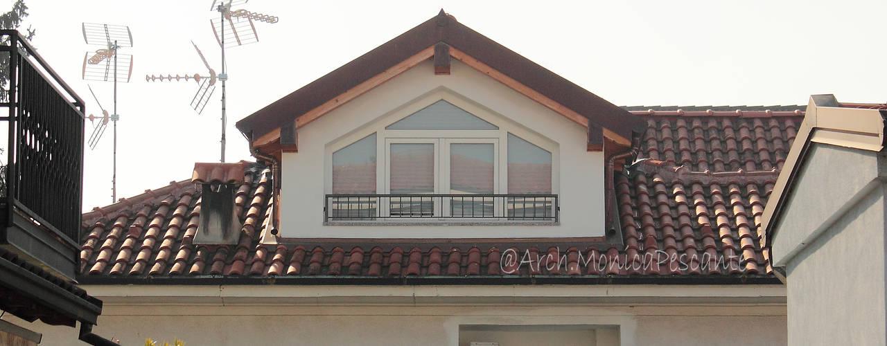 Suddivisione e ristrutturazione villa architetto pescante monica Case moderne Bianco