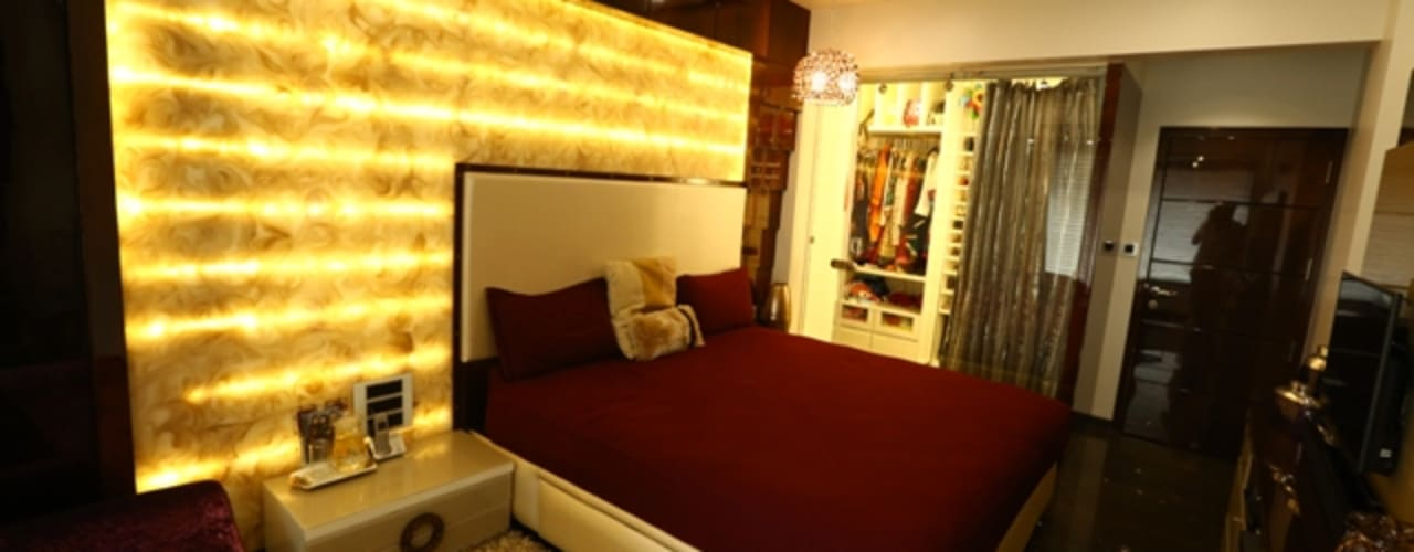 Basant Park - Chembur:  Bedroom by Aesthetica