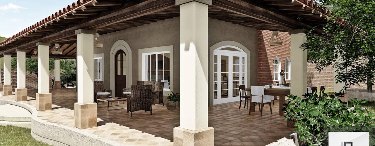 Fachada interior: Casas de estilo  por IAD Arqutiectura