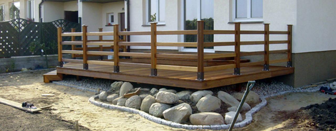 Taras drewniany w Szczecinie: styl , w kategorii  zaprojektowany przez PHU Bortnowski,