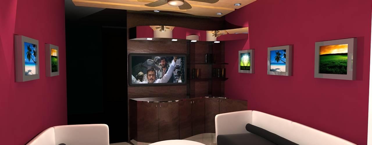 Neelesh Residence:  Living room by Rapchik Designs