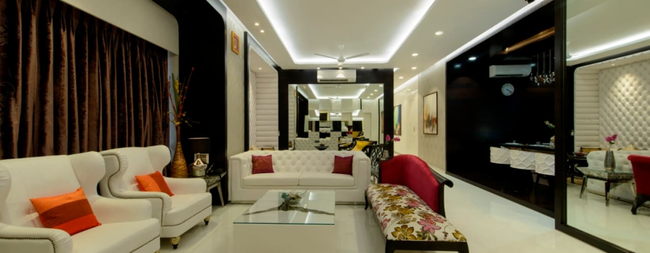 Exclusive Residence:  Living room by Dzign thoughts