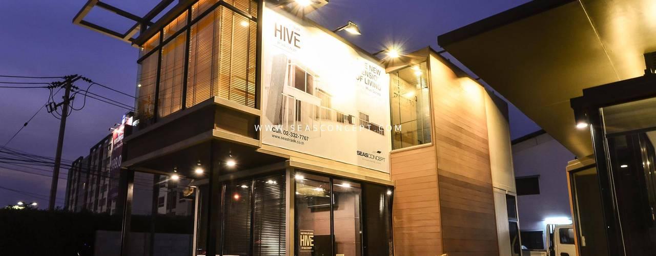 HIVE SERIES Seastrade Company Limited อาคารสำนักงาน ร้านค้า เหล็ก Black