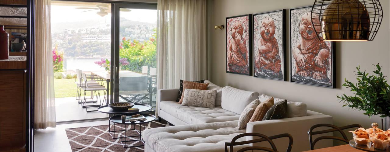 Ruang Keluarga Modern Oleh Esra Kazmirci Mimarlik Modern