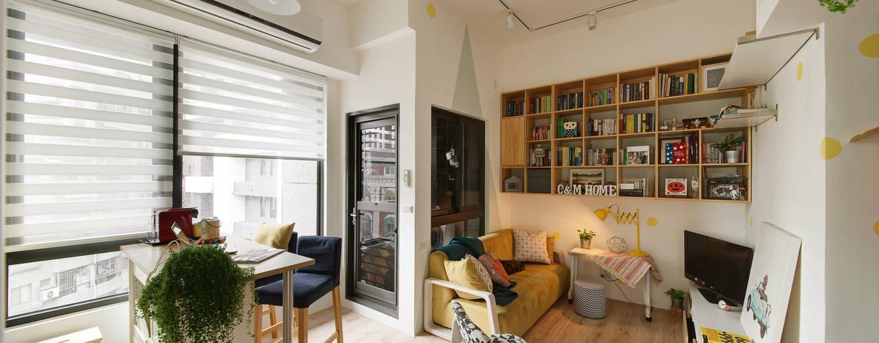 Salas / recibidores de estilo  por 一葉藍朵設計家飾所 A Lentil Design