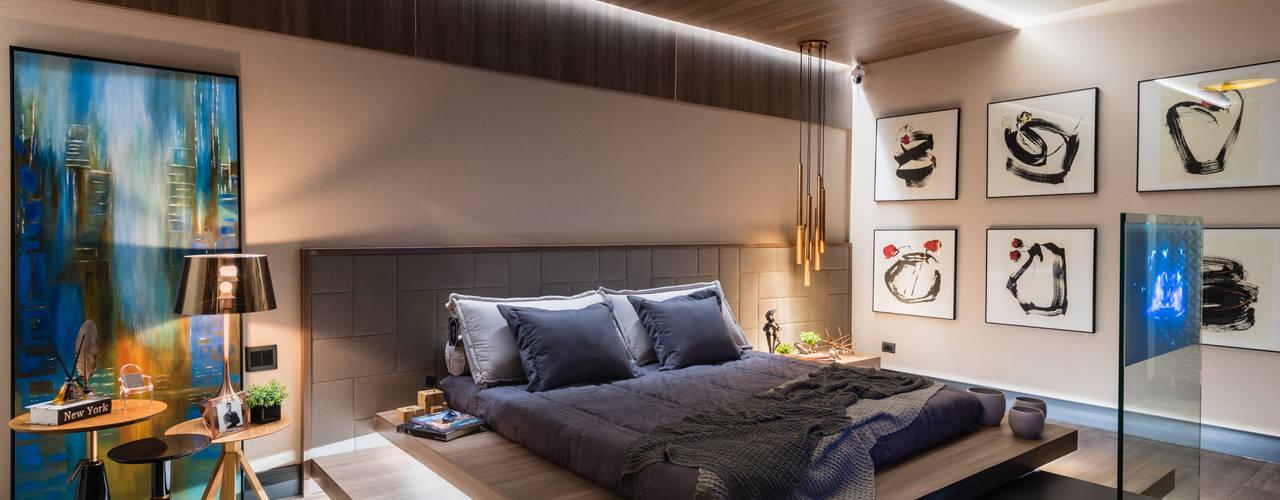 Chambre de style  par juliano burali arquitetura, Minimaliste