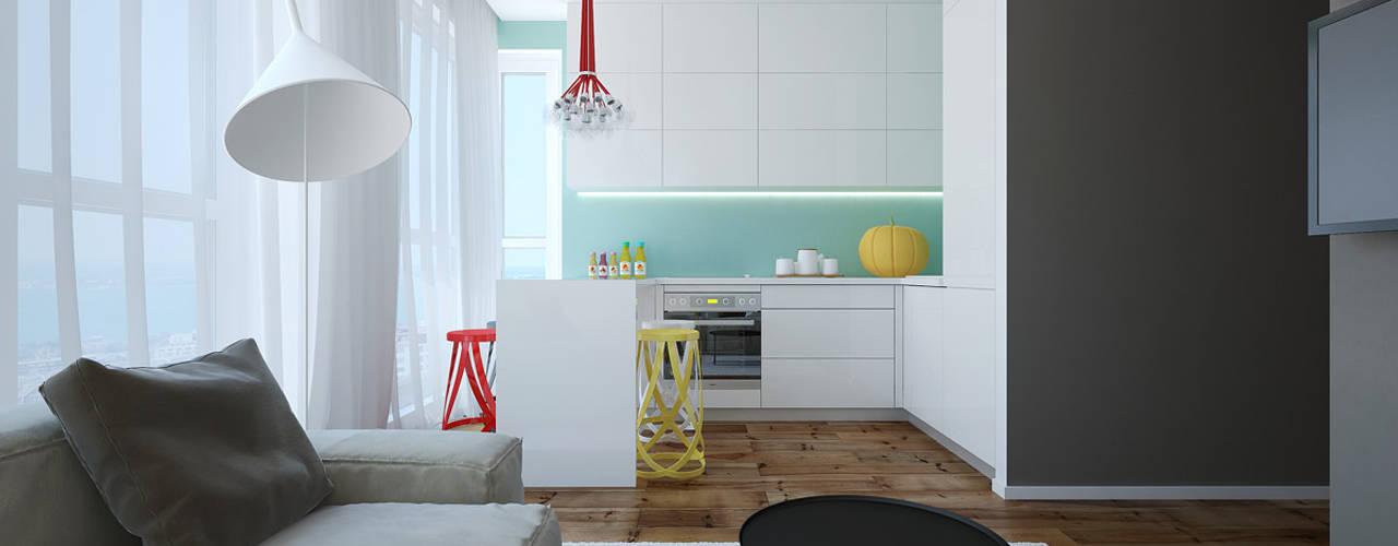 Квартира «Варна Болгария» Кухня в стиле минимализм от Студия дизайна 'Азбука Дом' Минимализм