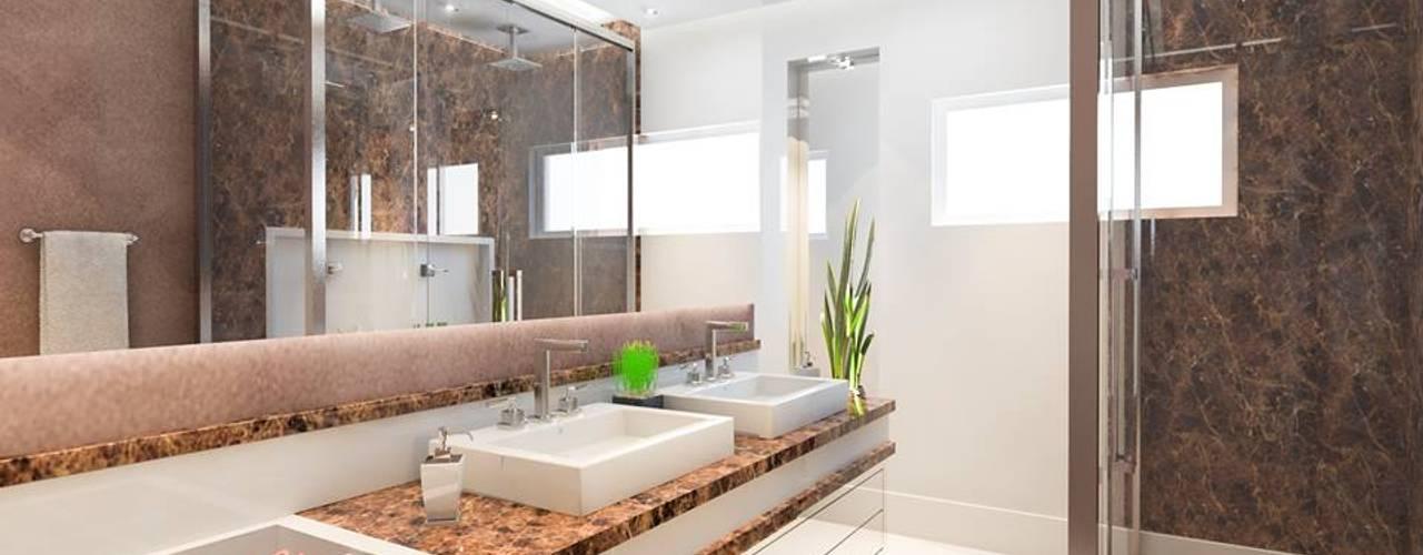 BANHEIRO MASTER: Banheiros modernos por Lucas Garcia Bonini - Designer de Interiores