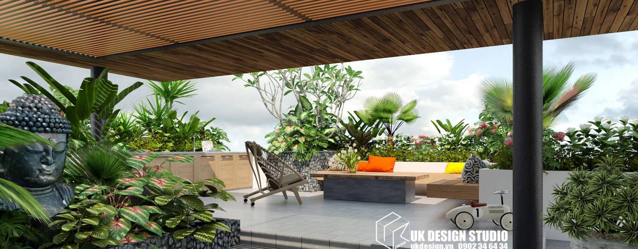 Biệt thự sân vườn bởi UK DESIGN STUDIO - KIẾN TRÚC UK Hiện đại