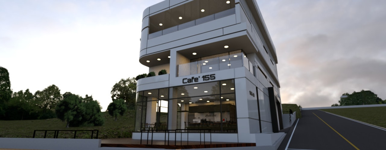 주상복합건물-충청남도 논산시 L씨 모던스타일 주택 by 디자인 이업 모던