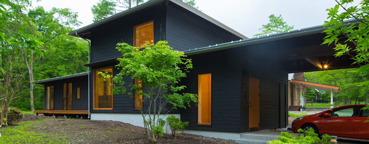 軽井沢 モリキズナの家/新築住宅 日本家屋・アジアの家 の 一級建築士事務所 アトリエ カムイ 和風