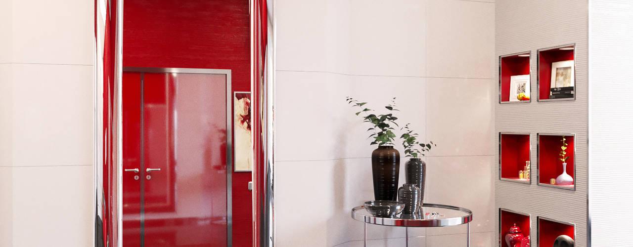 Брутальный минимализм: Коридор и прихожая в . Автор – СТУДИЯ ДИЗАЙНА ИНТЕРЬЕРА BeHome-Design