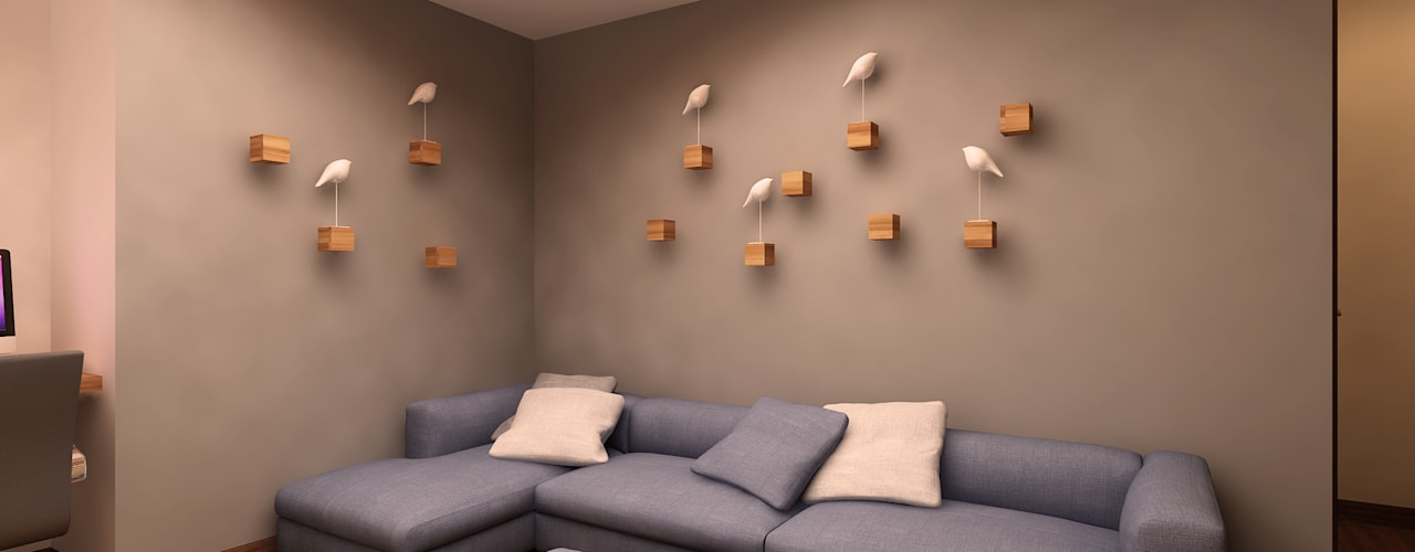Residential:  Living room by Pixilo Design