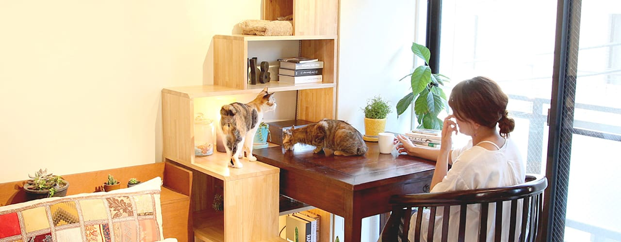 猫家具ニャンド NYAND SHELF - TREE: &lodge inc. / 株式会社アンドロッジが手掛けたです。