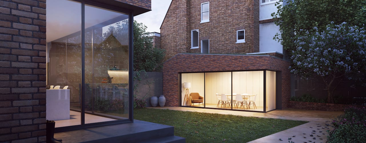 Dartmouth Park House:   by Amos Goldreich Architecture,