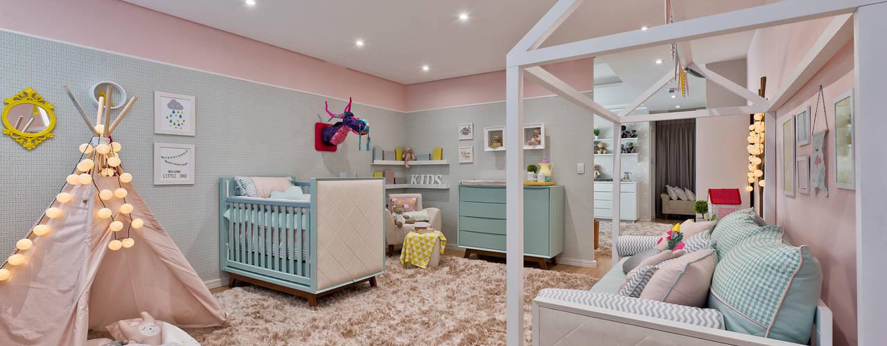 Quarto de menina moderninho: Quarto infantil  por KIDS Arquitetura para pequenos