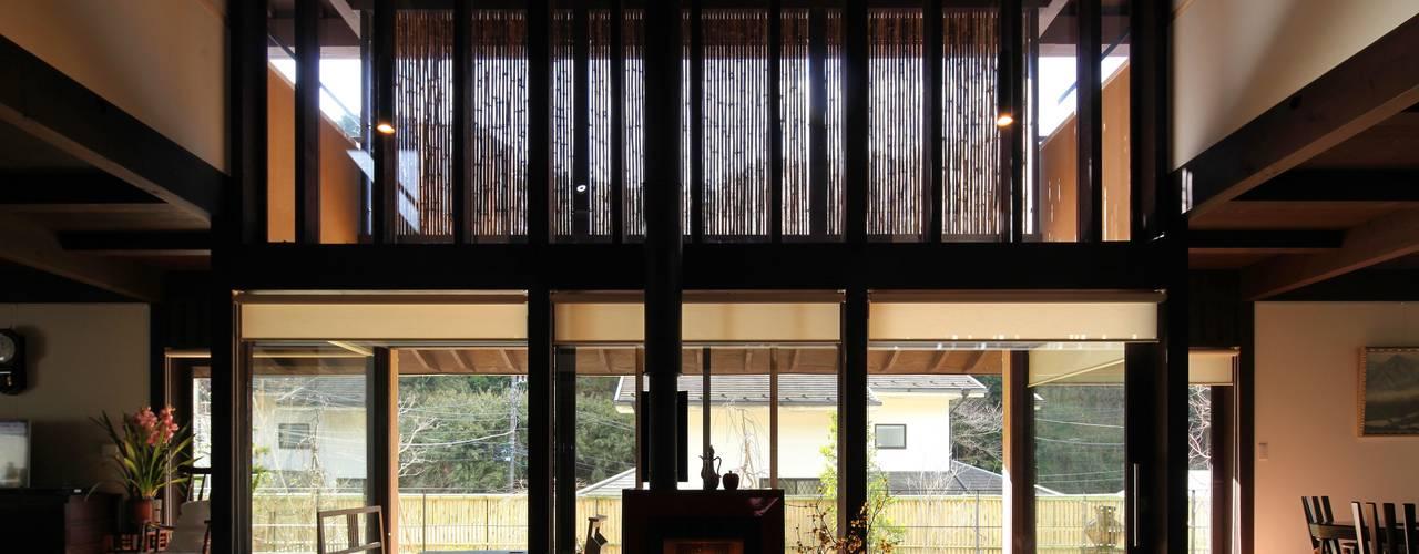 鎌倉市G邸 和風デザインの リビング の 株式会社 鎌倉設計工房 和風