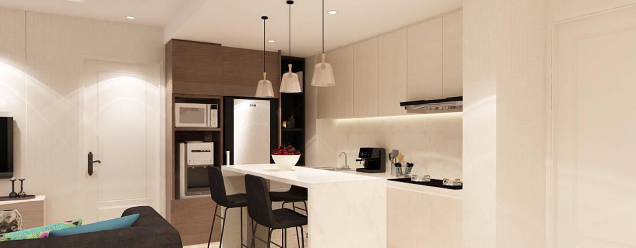 Studio Apartment - Art Deco Ruang Makan Minimalis Oleh iugo design Minimalis
