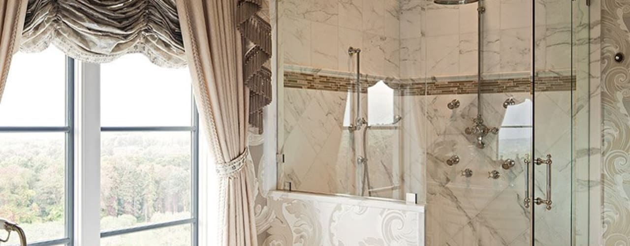 Master Bathroom:  Bathroom by Kellie Burke Interiors