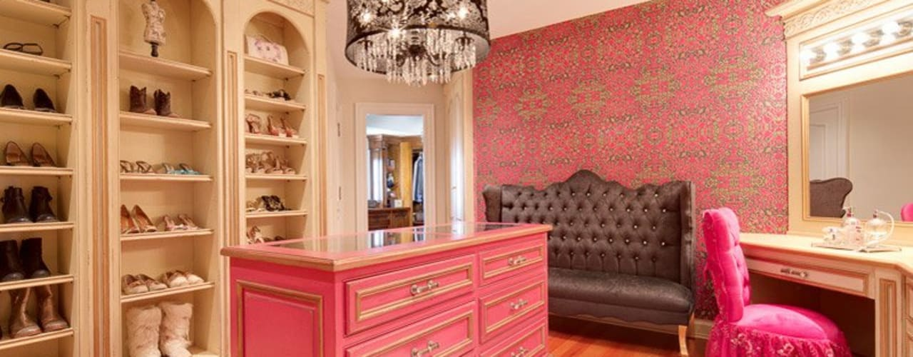 Old World Charm:  Dressing room by Kellie Burke Interiors