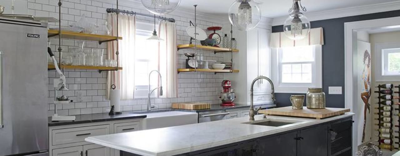 Kitchen Island: industrial Kitchen by Kellie Burke Interiors