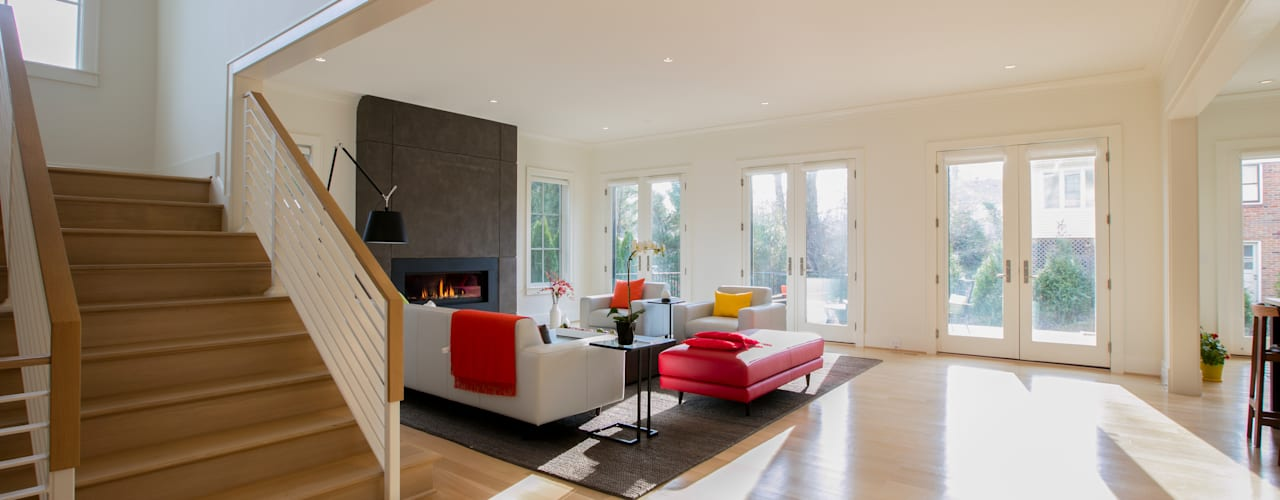 Bethesda Modern Modern Living Room by FORMA Design Inc. Modern