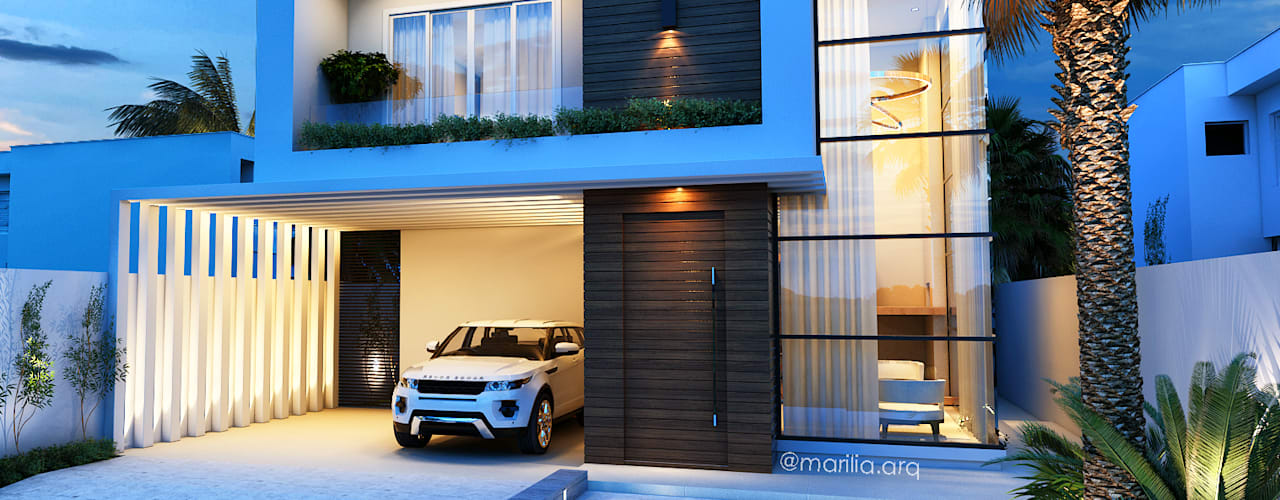 Casas modernas de Marilia Zimmermann Arquitetura e Interiores Moderno