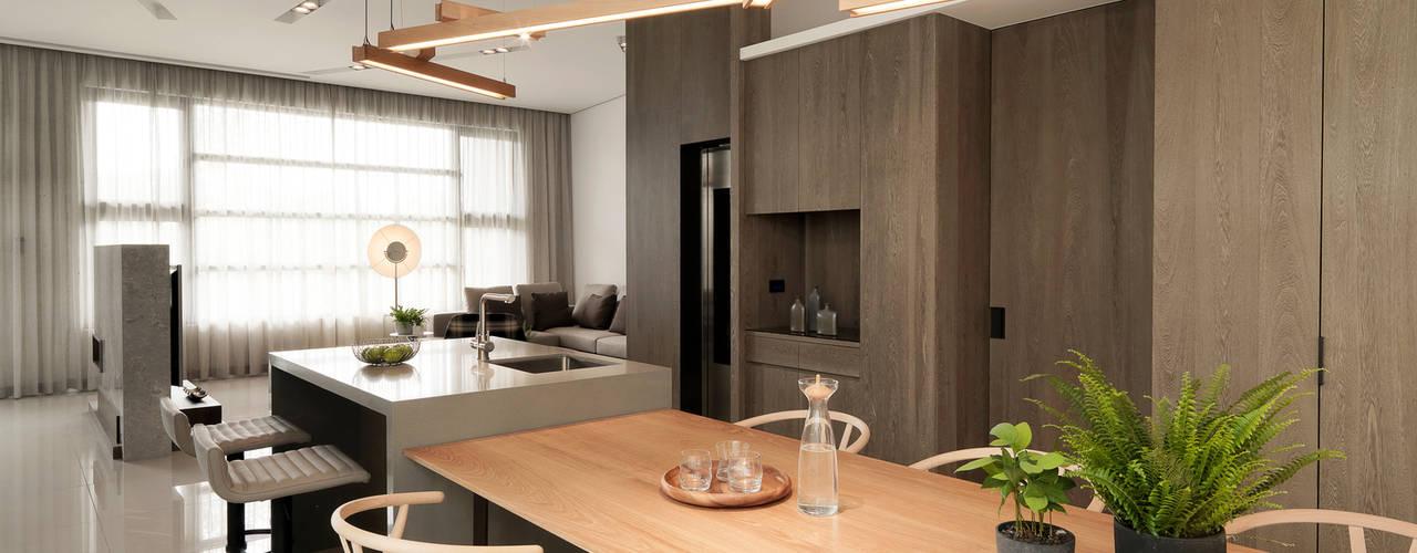 Modern Dining Room by 禾築國際設計Herzu Interior Design Modern