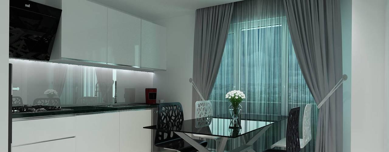 Projekty,  Kuchnia na wymiar zaprojektowane przez Altuncu İç Mimari Dekorasyon
