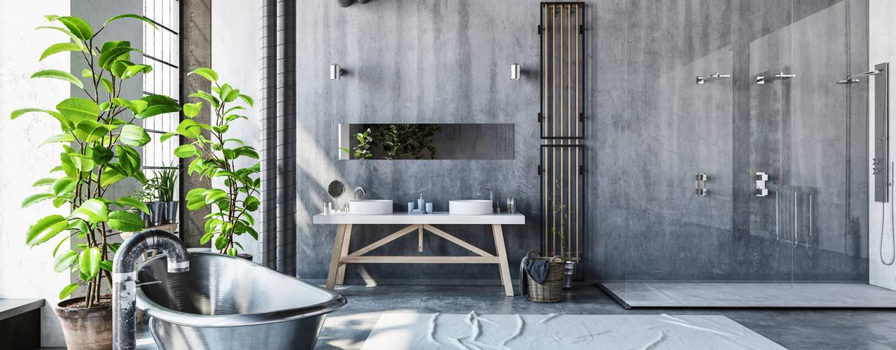 Bathroom - Industrial style:  Bathroom by homify demonstration profile