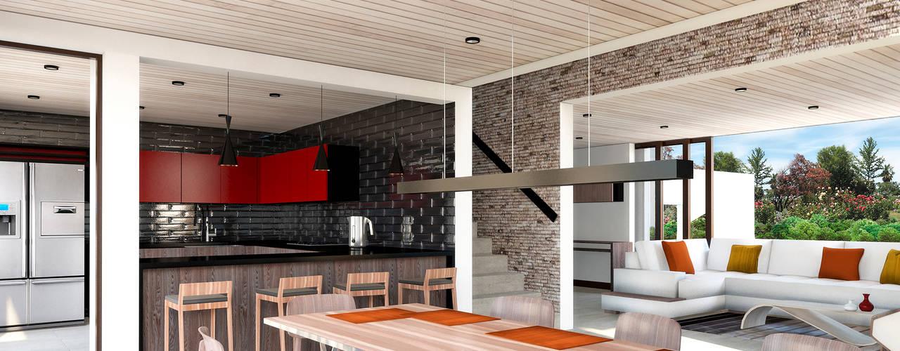 Casa Evolución 01: Casas unifamiliares de estilo  por NEF Arq.,