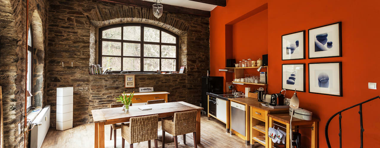 Modern dining room by 2kn architekt + landschaftsarchitekt Thorsten Kasel + Sven Marcus Neu PartSchG Modern