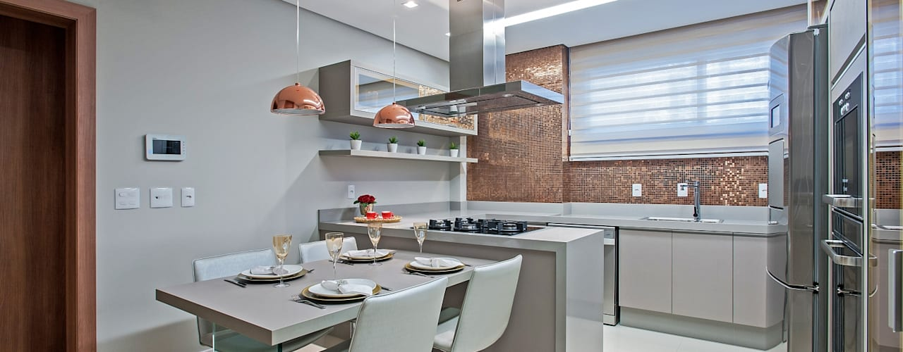 Cocinas de estilo  por Carolina Kist Arquitetura & Design