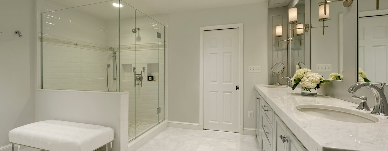 Whole House Design Build Renovation in Bethesda, MD:  Bathroom by BOWA - Design Build Experts