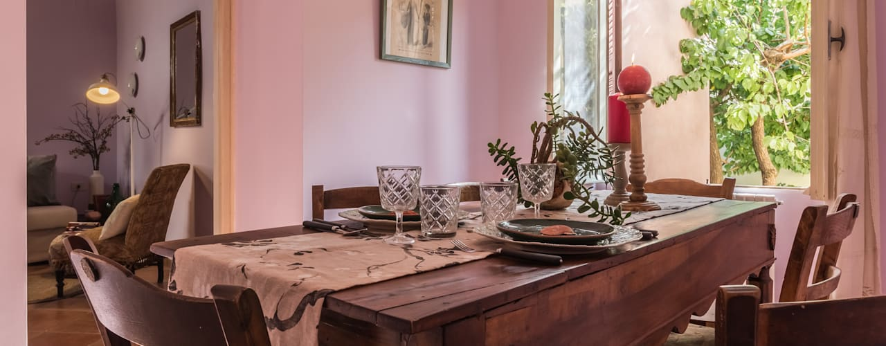 Ruang Makan Gaya Eklektik Oleh Sapere di Casa - Architetto Elena Di Sero Home Stager Eklektik